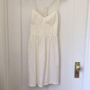 American Eagle cream lace bodice dress